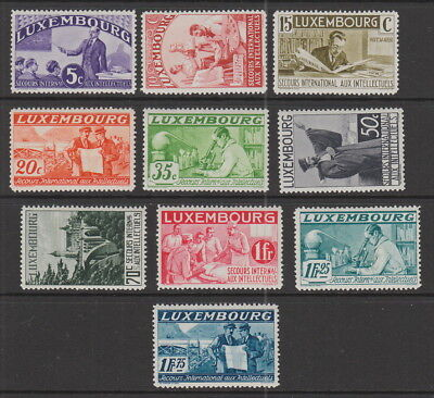 Luxembourg 1935 Intellectuals 5c - 1 Fr 75 MH SG 324-333