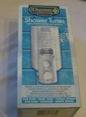 The Shower Radio Wet Tunes  AM/FM RADIO and clock Waterproof WORKS