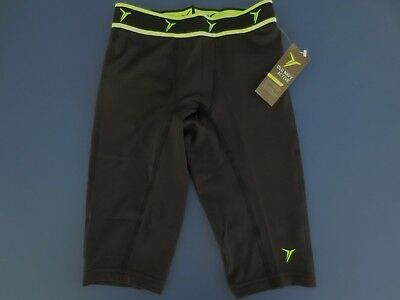 NEW Boys Size 8 OLD NAVY Active Go-Dry Compression Base Layer Shorts Black Neon