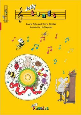Jolly Songs (book and CD) in Precursive Letters (BE) 9781844140695
