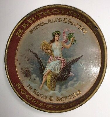 Prepro Bartholomay Beer Tip Tray Rochester New York Pretty Lady 4 1/4 Inch