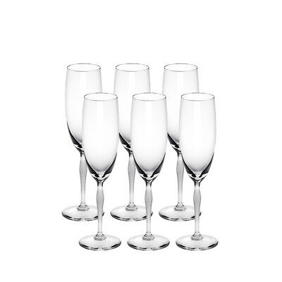 Lalique 100 Points Champagne Flute Set Of 6 Brand New In Box #10331400 Crystal