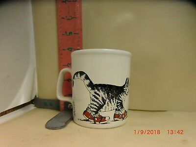 B.kliban Cat In Sneakers Mug - Kiln Craft , Staffordshire , England