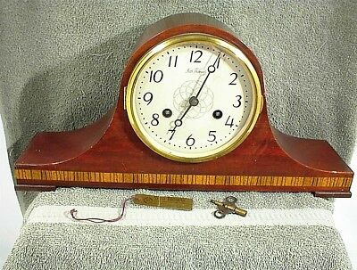 Vintage Seth Thomas Mantle Clock With Key Wood Chimes E531-000 Germany Usa