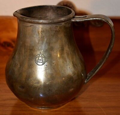 Vintage Wallace Silver Soldered Omaha Athletic Club Pitcher 6 Inches Tall
