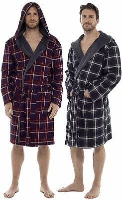 bf2ac2c791 WOLF   HARTE Mens Check Flannel Fleece Lined Dressing Gown - £23.99 ...