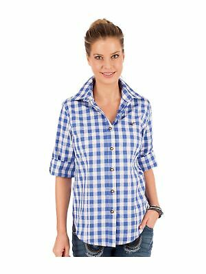 Orbis Traditional Costume Blouse Isidora Block Check Blue