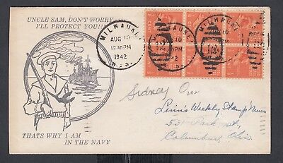 Usa 1942-44 Wwii Three Patriotic Covers Us Navy, Gen Sikorski & Service Women