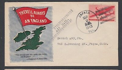 Usa 1943-45 Wwii Three Patriotic Covers England, Allied Flags & United Nations