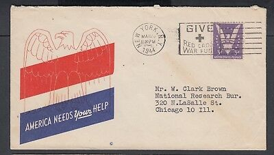Usa 1944-45 Wwii Three Patriotic Covers America, Uncle Sam & Liberty