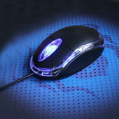 NEW USB 3D Optical Ergonomic Wired Mouse Mice For PC Standard Size 800DPI Black