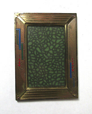 Vintage Art Deco frame metal period old early free US ship