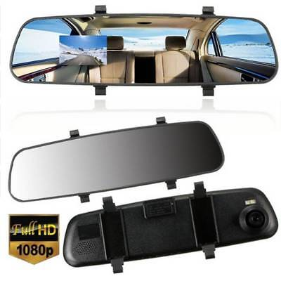 HD Car 2.7'' 1080P Rearview Mirror Dash Camera DVR Cam Video Recorder Rear View