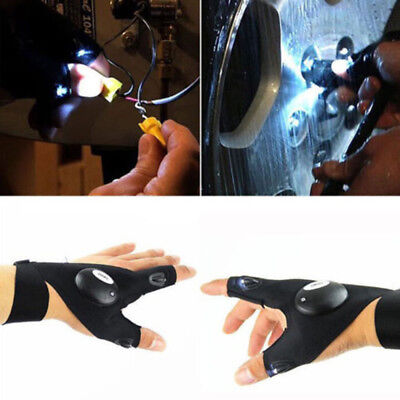 Novelty LED Light Finger Lighting Gloves Auto Repair Outdoors Flashing Artifact