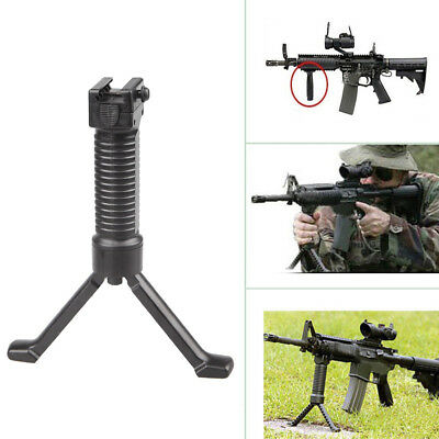Tactical Vertical Fore Hand Grip Bipod Picatinny Rail Rifle Weaver Foregrip 20mm
