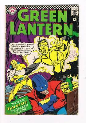 Green Lantern # 48 Goldface's Grudge Fight ! grade -- 3.5 scarce book !!
