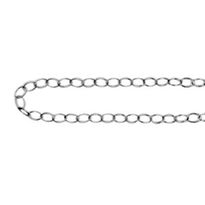 Sterling Silver Oval Link Chain Size 24, Silver wt. 5.37 Gms.