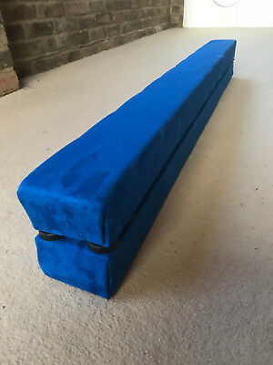 finest quality gymnastics balance beam folding/easystore 12ft long  ROYAL BLUE