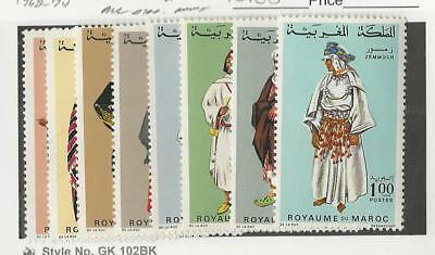 Morocco, Postage Stamp, #198A//204A Mint NH (8 Different), 1968-74
