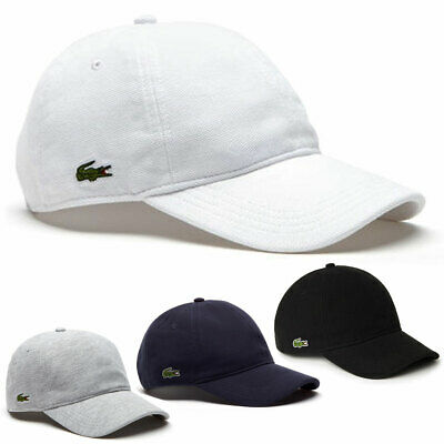 LACOSTE MENS 2019 Mens Cotton Pique Summer Baseball Cap Hat - EUR 46 ... 1d89fb455a03