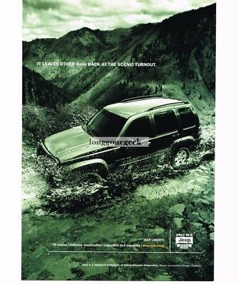 2003 Jeep LIBERTY Drive In Stream Water Vtg Print Ad