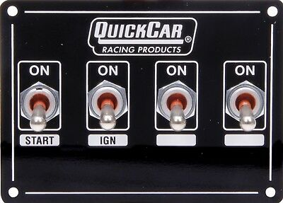 Quickcar Weatherproof Ignition Control Panel With Two Accessory Switches 50-7411