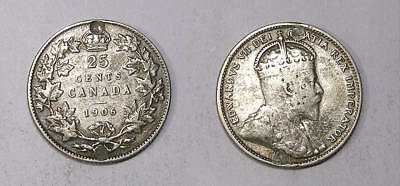 1906 Canada Sterling Silver Quarter Nice Detail Inv#318-28