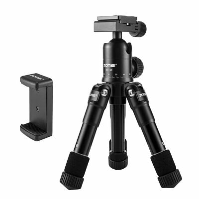 ZOMEI Pro Aluminum Mini Tripod&Ball Head Table Top For Camera&Telescope,Phone
