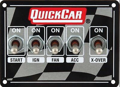 Quickcar Weatherproof Ignition Control Panel W/ Three Accessory Switches 50-1711