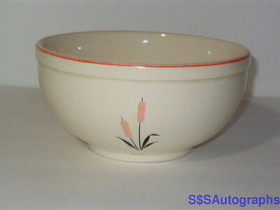 "Vintage 6"" MIXING BOWL Universal Cambridge China Cattail Camwood 1944 Oven Proof"