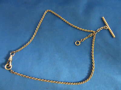 Victorian Rolled Gold Filled Pocket watch chain & bar Simmons