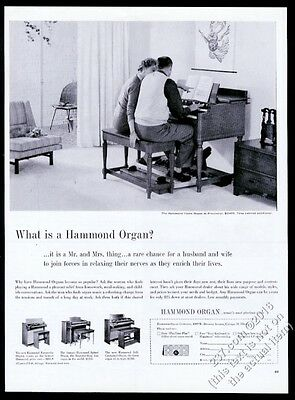 1960 Hammond B3 B-3 organ photo vintage print ad