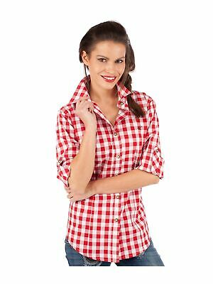 Orbis Traditional Costume Blouse Isidora Block Check Red