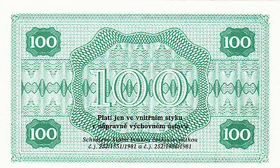 100 Korun Unc Prison Currency From Czechoslovakia 1981!state Bank Issued