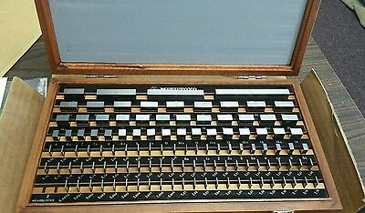 NEW * Mitutoyo metric Gauge Block set with wooden case