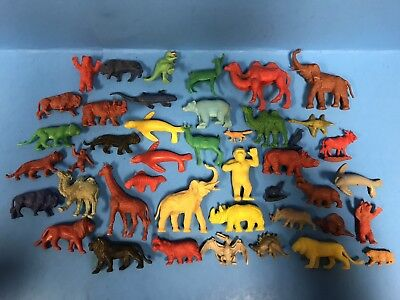 + Lot Of 43 Vintage 50's Marx And Assorted Animals