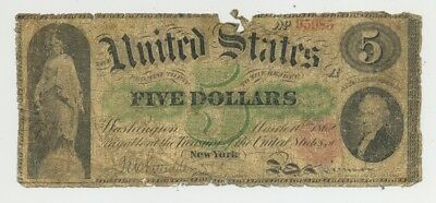 $5 Series 1862 Fr. 62 United States Note in well circulated condition no reserve