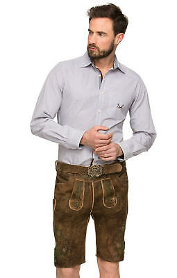 Stockerpoint Leather Trousers with Belt Beaver-Antique Green