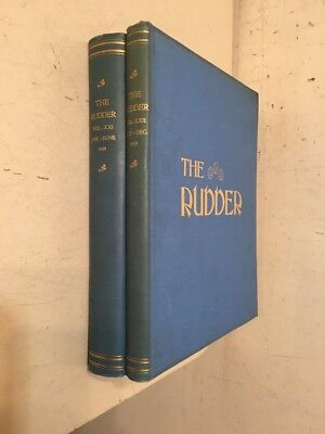 Antique Bound The Rudder Magazine Boat Yacht Sailing Complete In 2 Volumes 1909