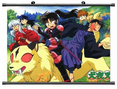 """Japanese Anime InuYasha Roles Home Decor poster Wall Scroll 23.6x17.7"""" GO1213"""