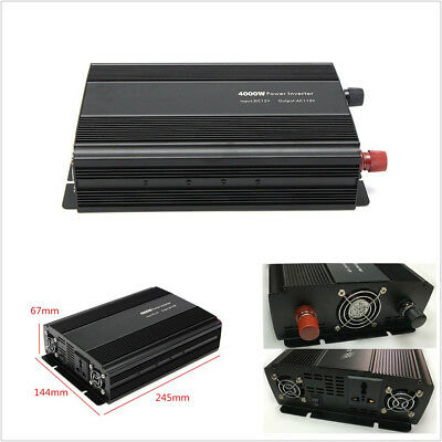 Autos American Plug 4000W 8000W Peak Modified Sine Wave Power Inverter Converter