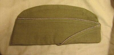 Vintage WWII U.S. Military Garrison Cap w/ Piping Army, Marines, Navy, Air Force