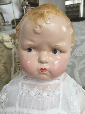 RARE Large Size Vintage 1912 Effanbee Composition Character Baby Grumpy Doll