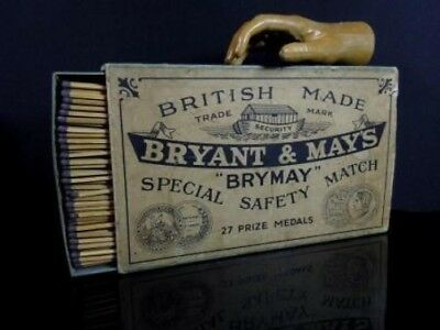 Antique Oversized Shop Display Bryant & May Match Box with Matches