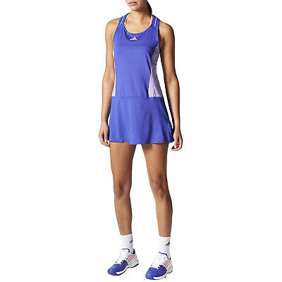 adidas Performance Womens Adizero Sleeveless Tennis Sports Dress - Night/Orange