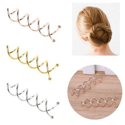 10pcs Hair Clip Women Bobby Pin Hairs Styling Spiral Spin Screw Twist Barrette
