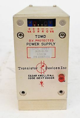 Transistor Devices Inc SPS 3407 DC Power Supply 14.25-15.75VDC 0.5A 1213675-211