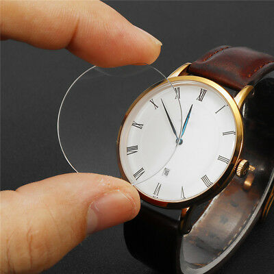 25mm-39mm Diameter 1.2mm Thick Flat Sapphire Glass Watch Crystal Replacement