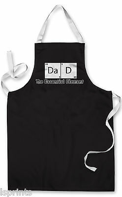Splashproof Novelty Apron Dad Element Cooking Painting Art Kitchen BBQ Gift