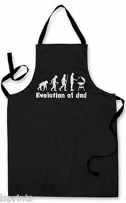 Splashproof Novelty Apron Evalution of Dad Cooking Painting Art Kitchen BBQ Gift